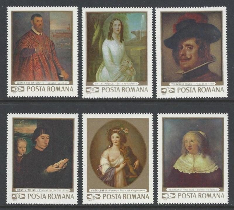 Romania 1969 Art VF MNH (2124-29)
