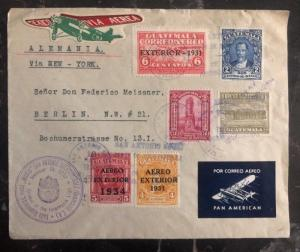1930 San Antonio Such Guatemala Airmail Cover To Berlin Germany Via New York