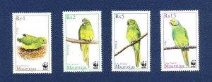 MAURITIUS - Scott 965-969 - FVF MNH - BIRDS - 2003