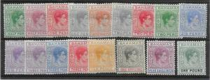 BAHAMAS SG149/57a 1938-52 DEFINITIVE SET MTD MINT
