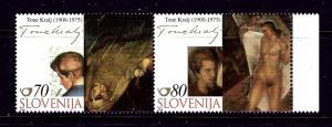 Slovenia 429 MNH 2000 Paintings Pair
