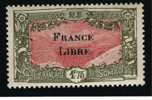 Somali Coast Sc #193 VF Mint OG hr French Colonies are Hot!