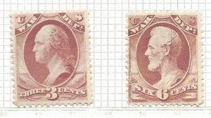 United States o116 (Used and Unused) and o117