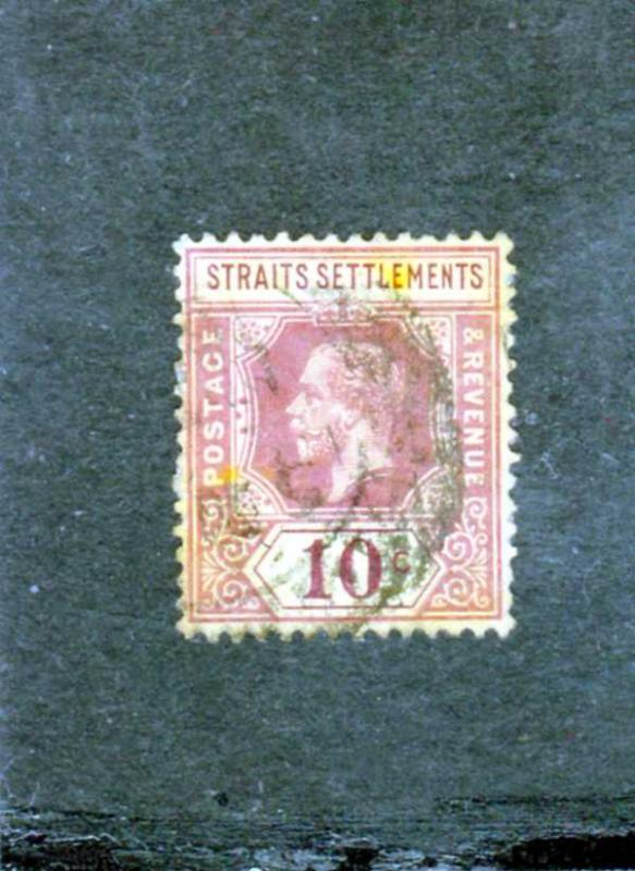 Straits Settlements King George V 1913 10cents Violet used sg 202b