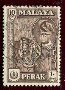 Malaya Perak; 1957-61: Sc. # 132; O/Used Single Stamp