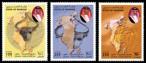 Bahrain 2000 Scott #535-537 Mint Never Hinged