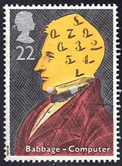 Great Britain # 1361 used ~ 22p Scientist - Charles Babbage
