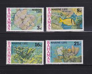 Bahamas 406-409 Set MNH Marine Life (B)