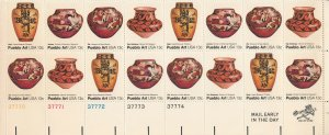 UNITED STATES 1709a PB MNH BLOCK OF 16 2019 SCOTT SPECIALIZED CAT VALUE $4.25