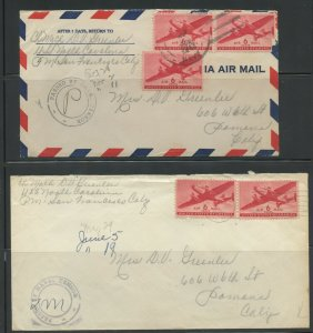 US USS NORTH CAROLINA LOT OF 4  DIFFERENT COVERS 1943-1962 AS SHOWN (27)