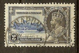 Trinidad & Tobago, Scott #43, 2c Silver Jubilee, Used