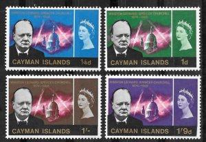 Cayman Is. # 176-79  Sir Winston Churchill  (4)  Mint NH
