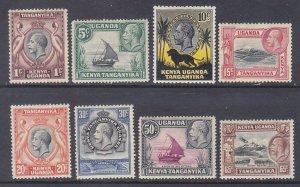 Kenya Uganda & Tanzania 46-53 Mint OG 1c-65c Issues Very Fine