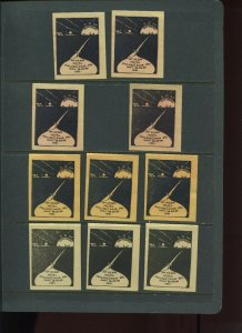 VINTAGE LOT OF 10 1931 MAGIC Poster Stamps SOCIETY OF AMERICAN (L1124)