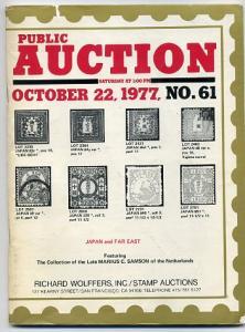 Wolffers Sale of Rare ClassicJapan October 1977