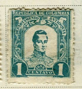 COLOMBIA ANTIOQUIA; 1899 early Bolivar issue Mint hinged 1c. value