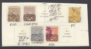 IRAN 173//180 OG H CDS F-VF TO VF $190 SCV MOUNTED ALL APPEAR TO BE SOUND