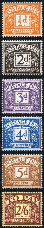 SGD40-D45 Post Due Set wmk Tudor Crown U/M