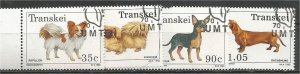 TRANSKEI, 1993, CTO Complete set, Dogs, Scott 283-286