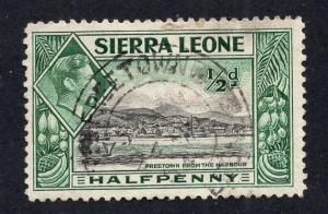 Sierra Leone   #173   1938   used   1/2p Freetown