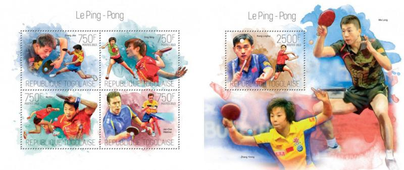Table Tennis Tischtennis Ping Pong Kong Linghui Sports Games Togo MNH stamp set