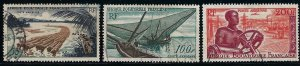 French Equatorial Africa C39-41 used cv $4.80 BIN $2.25
