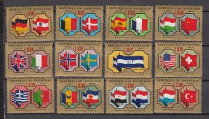 J27765 1975 honduras set from s/s mnh #c574 flags dif colors
