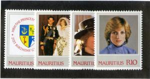 MAURITIUS 548-551 MNH SCV $5.50 BIN $2.75 ROYALTY