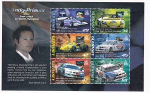 GUERNSEY ANDY PRIAUX RACING VICTORIES MNH S/SHEET