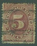 USA SC#J18 Postage Due, 5c, faulted, canceled