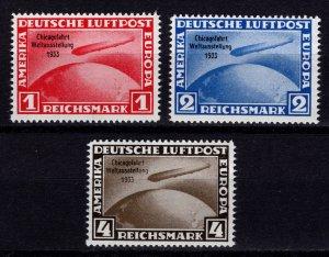 Germany reprint of 1931 Graf Zepplin Chicago World Exhibition Flight, Set [Mint]
