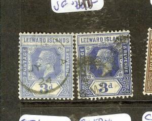 LEEWARD ISLANDS   (P1603B) KGV 3D  SG65-65A   VFU