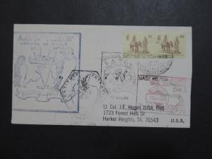 Chile 1986 Antarctica Cover / 6 Different Stamped Cachets - Z9599