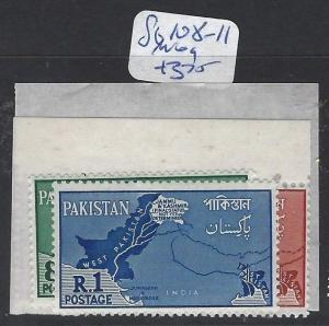 PAKISTAN (P2004B)  SG 108-111   MAP   MOG