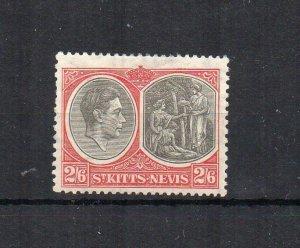 St Kitts-Nevis 1938-50 2s 6d MLH