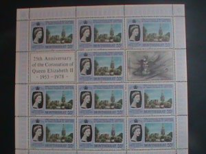 MONTSERRAT-1978 SC#386-25TH ANNIV: CORONATION OF QUEEN ELIZABETH II MNH SHEET