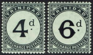 TRINIDAD 1905 POSTAGE DUE 4D AND 6D WMK MULTI CROWN CA