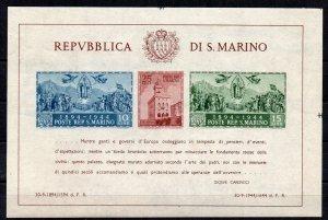 San Marino 1945 Government Palace/Air MS MLH