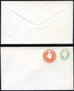 ESC681 KEVII 1/2d yellow Green and 4d Stamped to Order Envelope Mint
