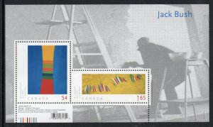 Canada Sc 2322 2009 Jack Bush Paintings stamp sheet mint NH
