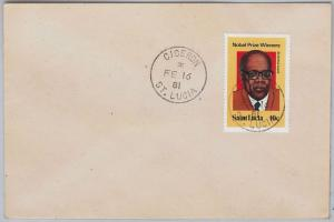 ST LUCIA -  POSTAL HISTORY - COVER with nice postmark:  CICERON 1981 Litterature