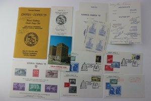 LINPEX TOPEX 75 1975 Souvenir Program cachet cover card signed ATA label ad lot