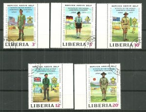 1971 Liberia 563-7  Scouting set of 5 CTO