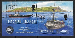 PITCAIRN ISLANDS SGMS511 1997 50th ANNIV OF SOUH PACIFIC COMMISSION FINE USED