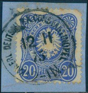 Germany 1875 Offices in Turkey 20Pfge V34 Vorlaufer Forerunner Deutsche Po 93904