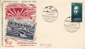 SWpain #838 Barcelona Stamp and Coin Expo 1956