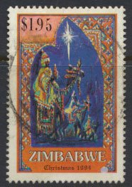 Zimbabwe SG 886  SC# 718  Used  Christmas 1994   see detail and scan