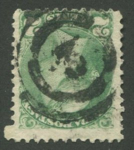 CANADA #36 USED SMALL QUEEN 2-RING NUMERAL CANCEL 3
