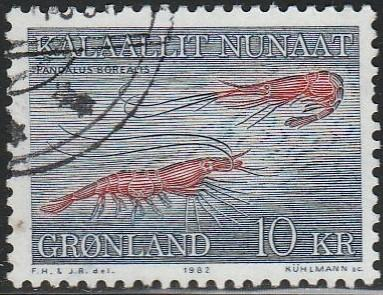 Greenland, #136 Used From 1981-86