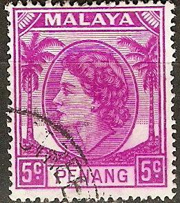 Malaya Penang 32 SG 31 Used VF 1954 SCV $4.25